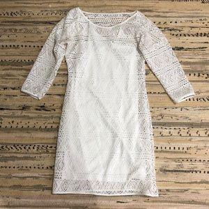 White sleeved mini dress